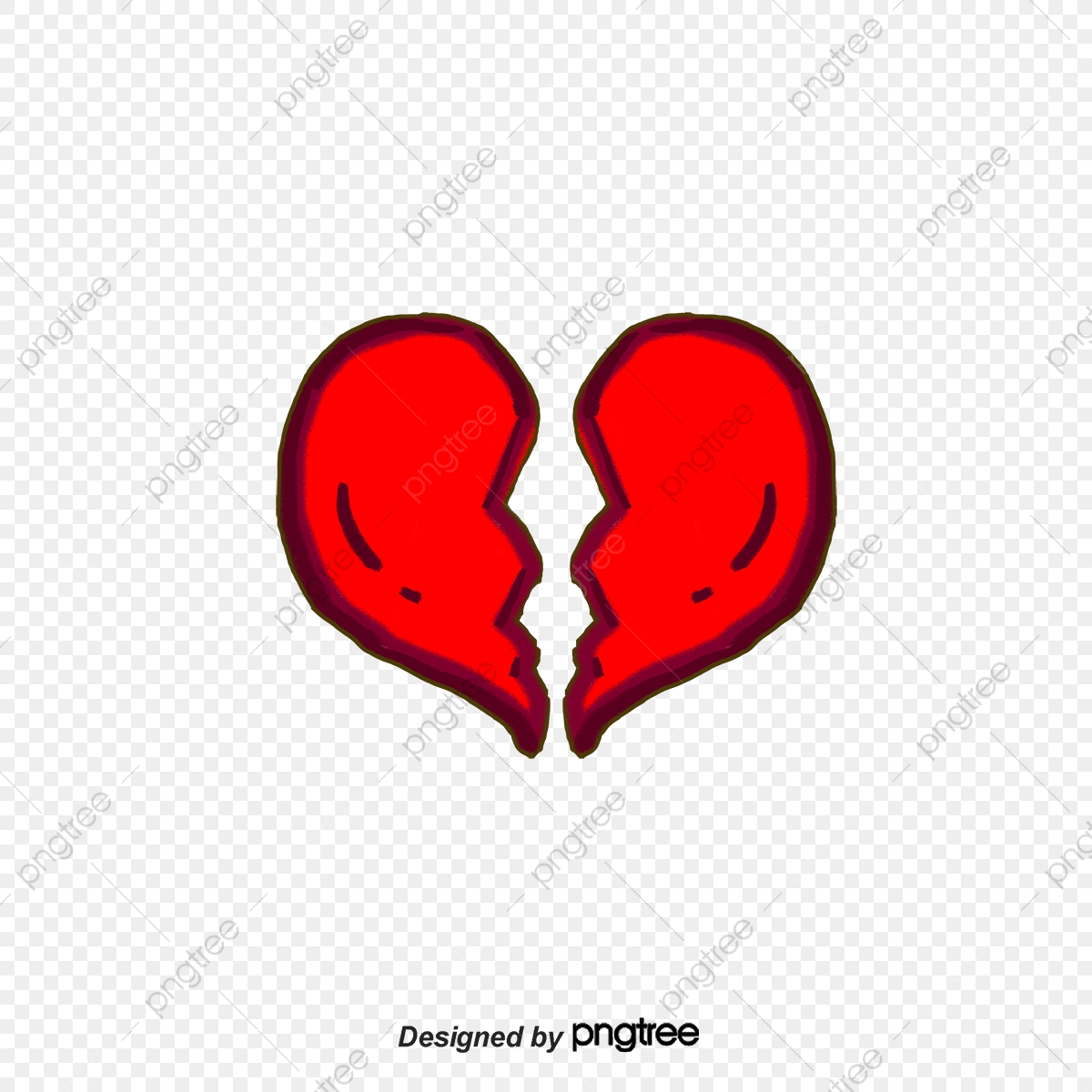 Heartbreak, Sad, Cartoon PNG Transparent Clipart Image and PSD File.