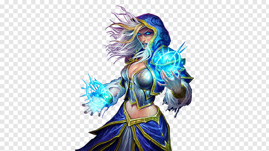 Dota 2 Crystal Maiden illustration, Hearthstone Desktop.
