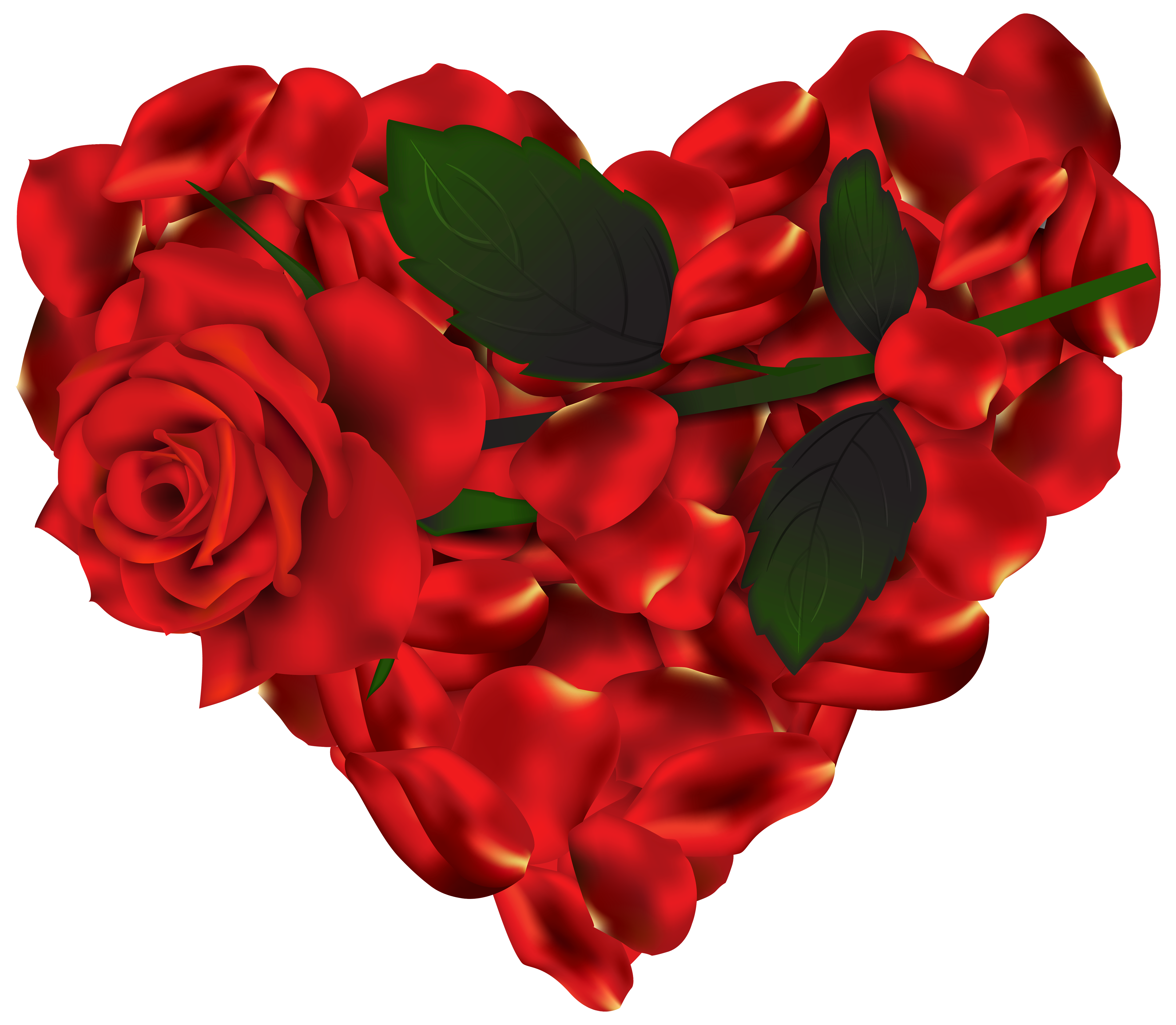 Heart of Roses PNG Clipart.