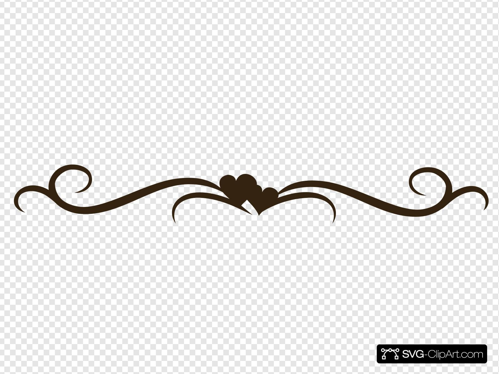 Brown Heart Swirl Clip art, Icon and SVG.