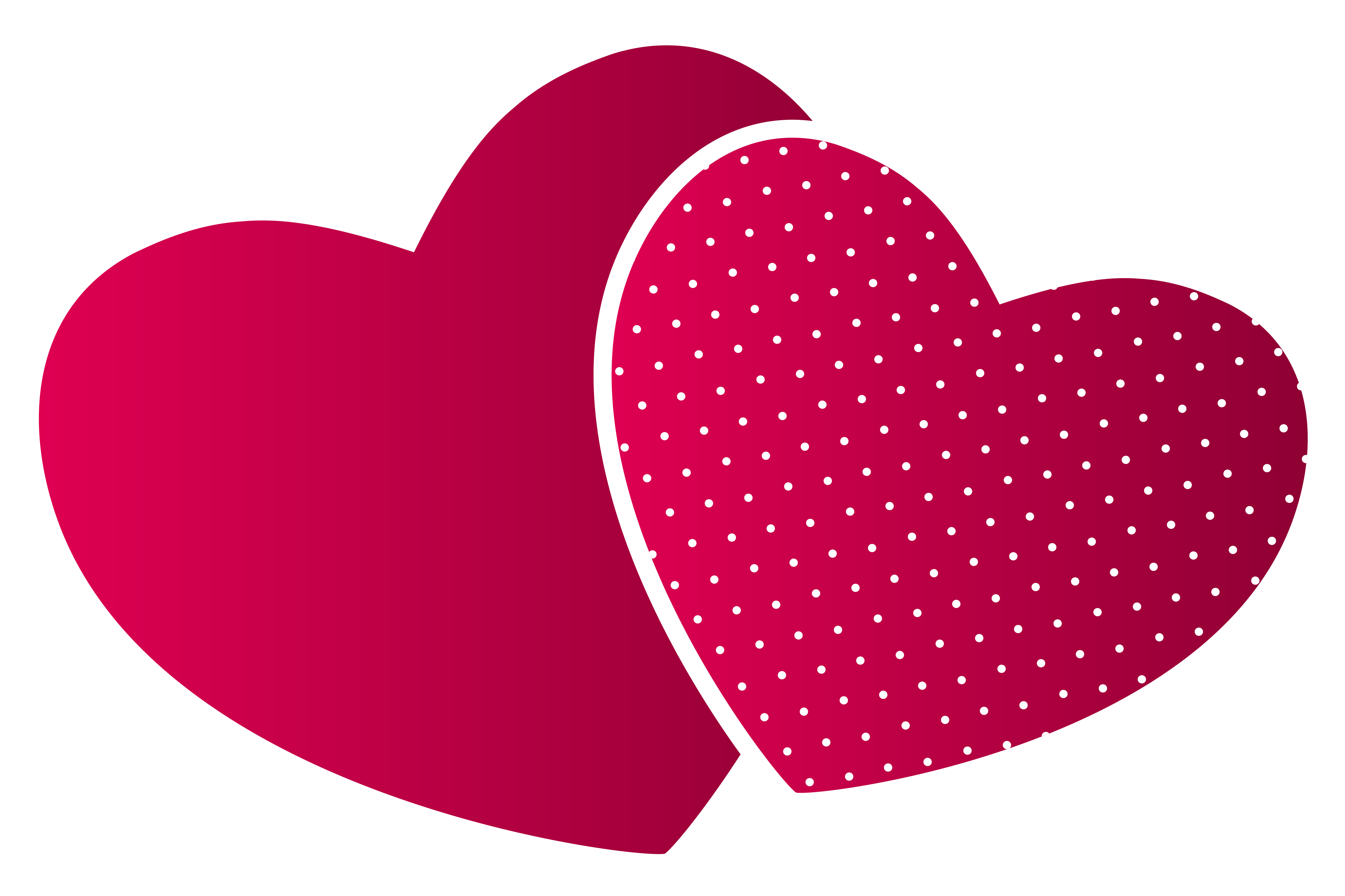 Double hearts PNG Clipart.