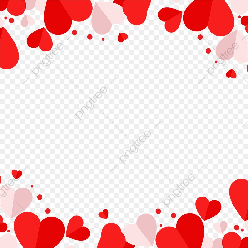 Red And Pink Heart Vector Frame Png, Red Heart, Heart, Heart Vector.