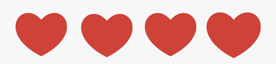 Clip Art Hearts In A Row Clipart.