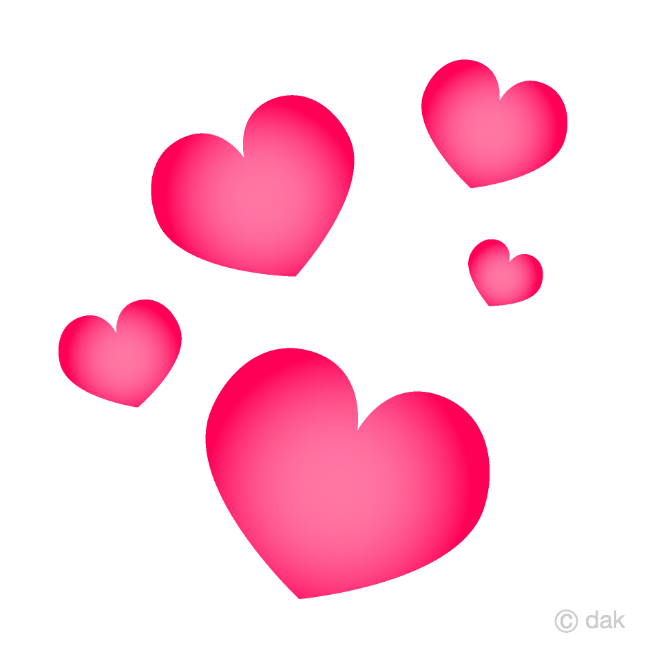 Free Floating Heart Clipart Image|Illustoon.