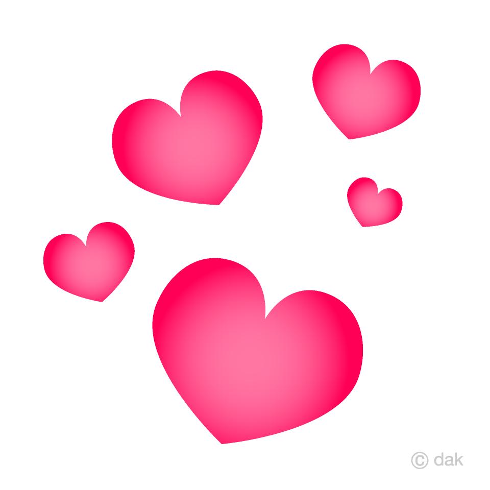 Free Floating Heart Clipart Image|Illustoon.