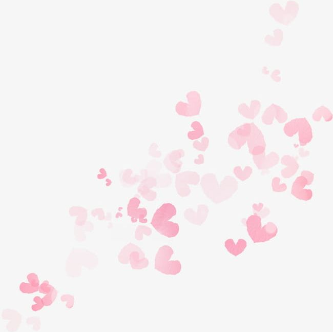 Floating Pink Hearts PNG, Clipart, Floating, Floating Clipart.