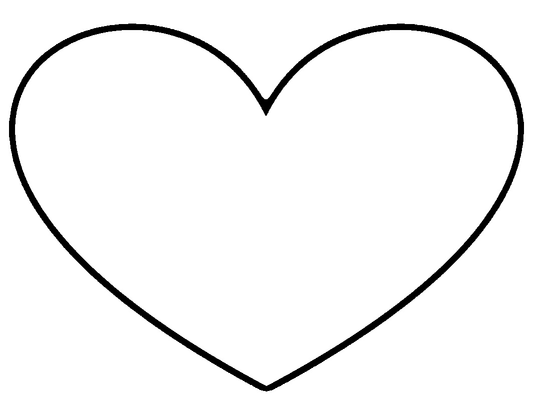 Heart Clip Art Outline.