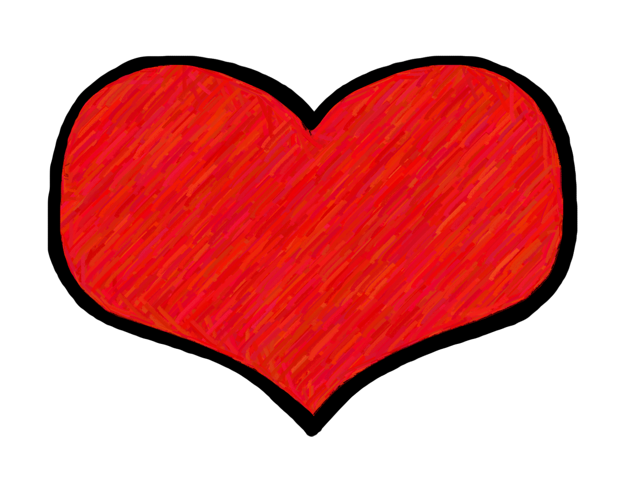 cute red heart clipart #14