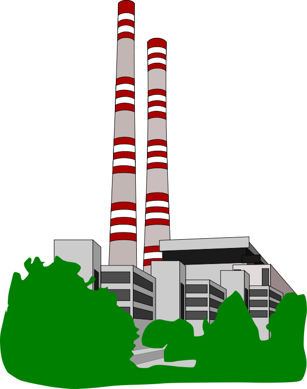 Coal power plant clipart.