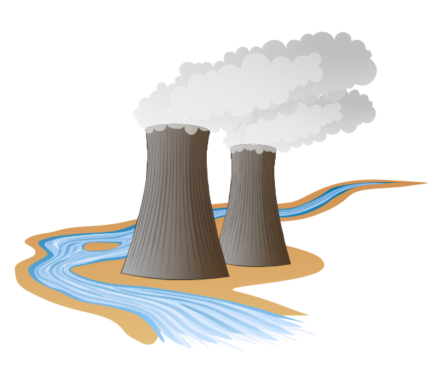 Heat And Power Plant Clipart
