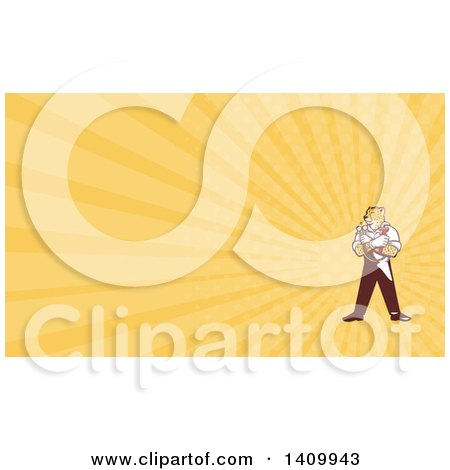 Clipart of a Cartoon Refrigeration and Air Conditioning Mechanic.