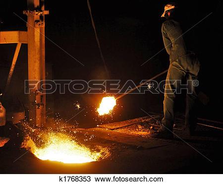 Stock Photo of Cast iron factory k1768353.