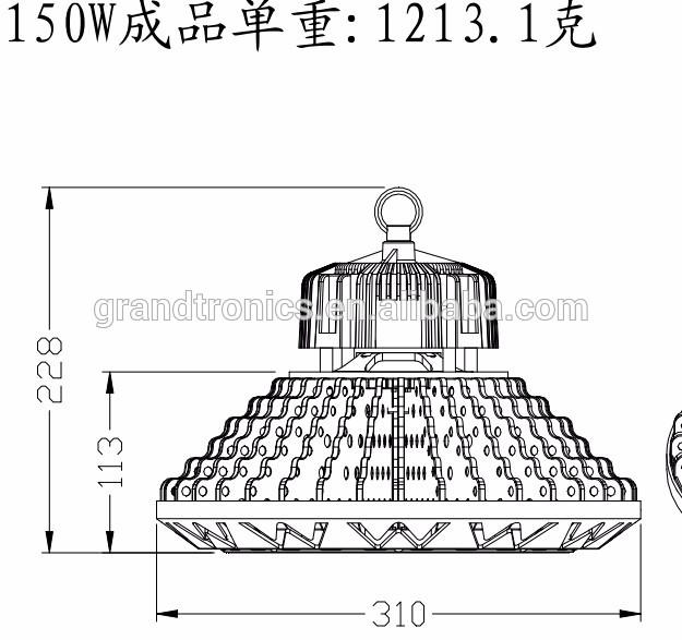 Ip66 Hbg 3030 Smd Ufo 215w Die Cast Aluminum Heat Sink Led High.