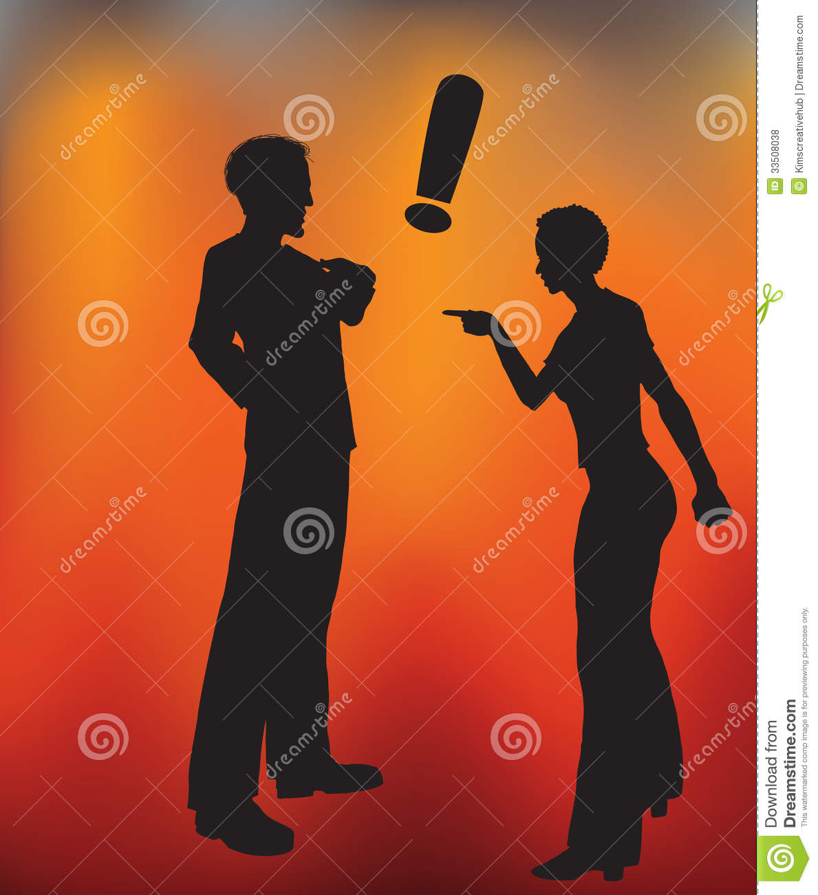 Couple In A Heated Argument Royalty Free Stock Photos.