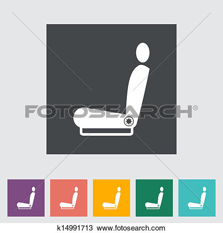 Clipart of Icon heated seat. k14991713.