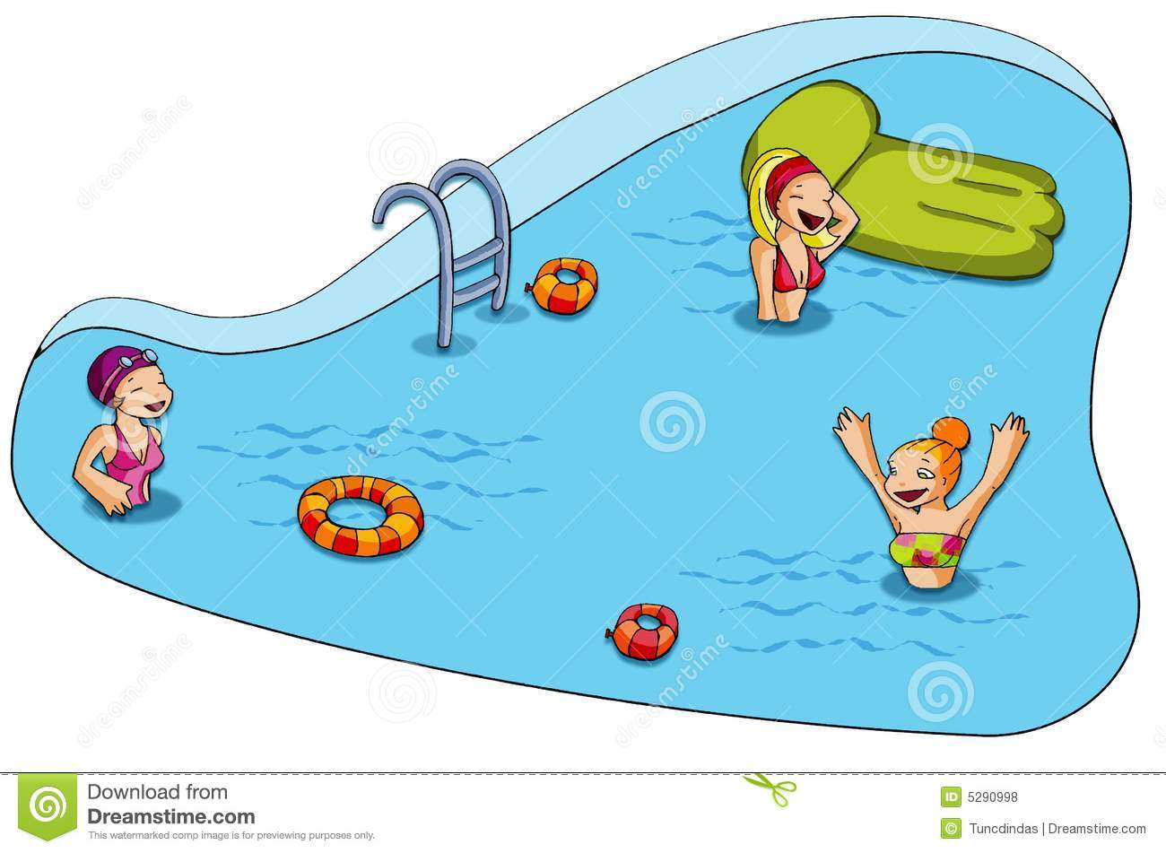 Kids pool clipart free.