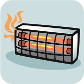 Electric heater clipart.