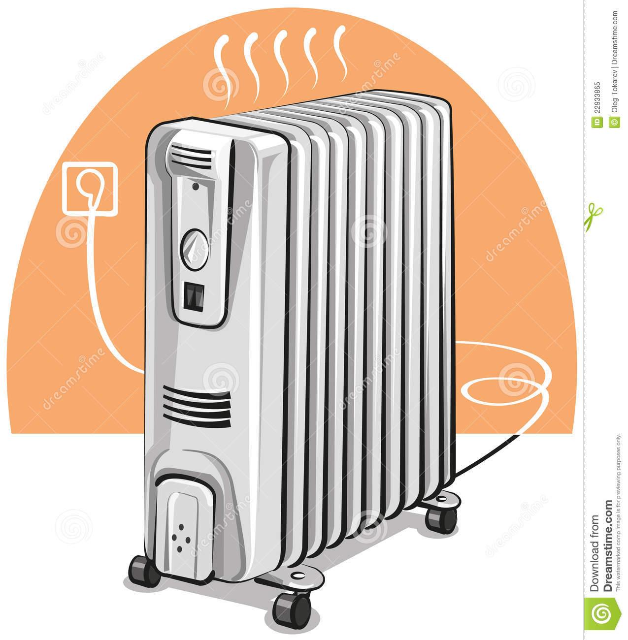 Portable Heater Clipart.