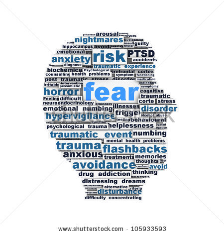 Fear Symbol Conceptual Design Isolated On Stock Illustration.
