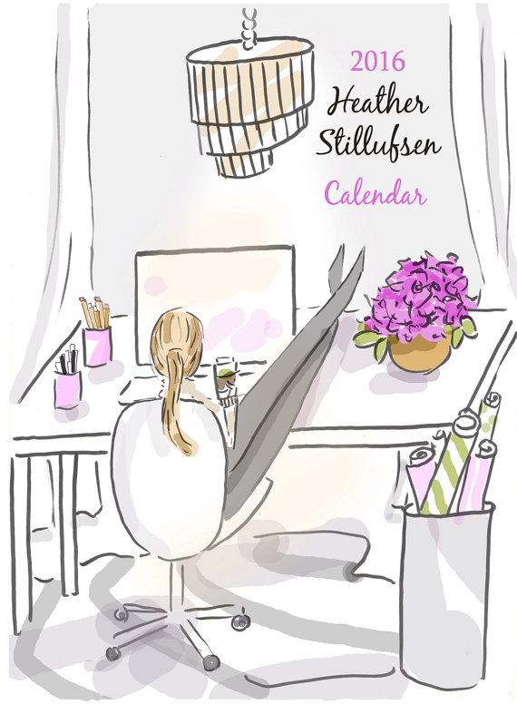 2016 Calendar by Heather Stillufsen by RoseHillDesignStudio.