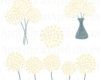 10 Hydrangea Clip Art in Heather Flower graphics by aprilhovjacky.