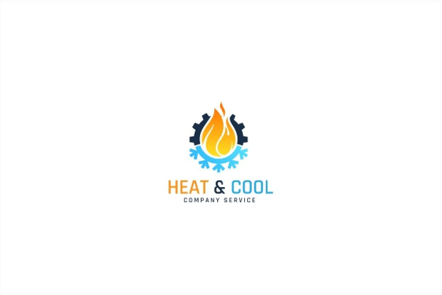 Heating And Cooling Logo.