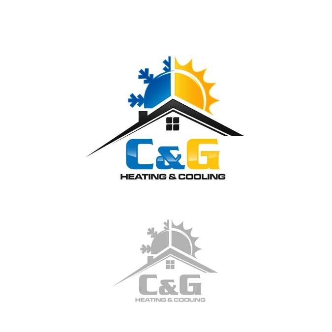 Heating and Cooling Company Logo.