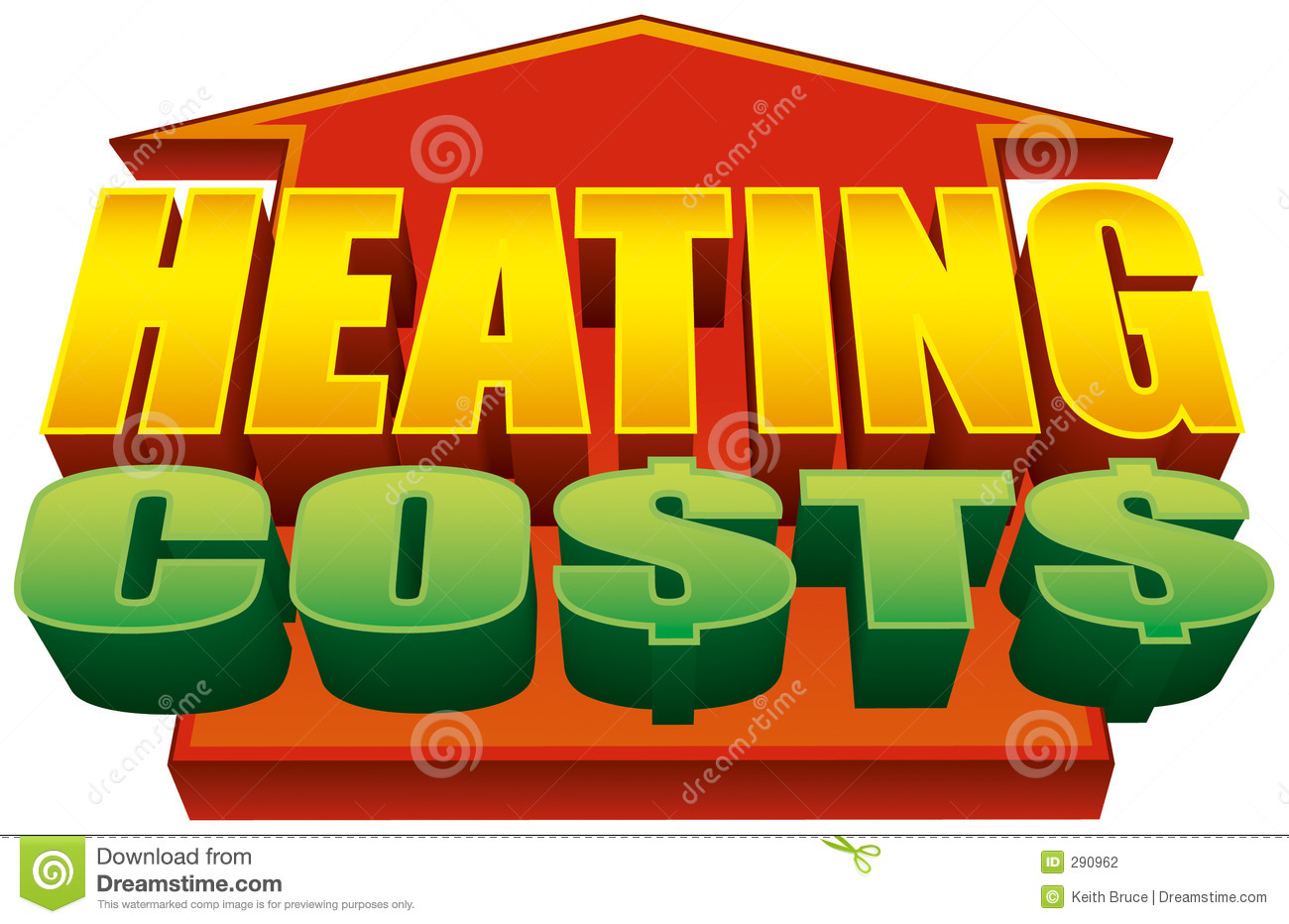 Heating Costs Rising Graphic 2 Stock Photography.