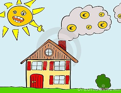 Heating Costs (Euro) Royalty Free Stock Images.