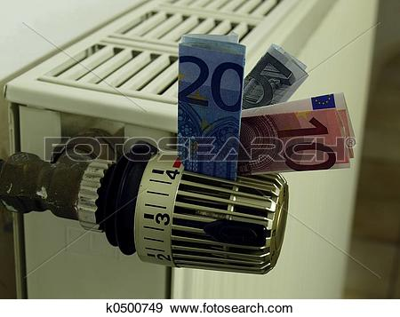 Stock Photograph of Heating costs k0500749.