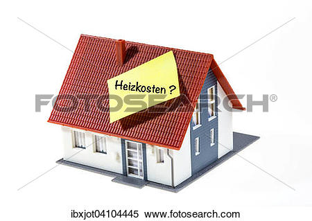 Stock Image of Symbol for real estate heating costs in German.