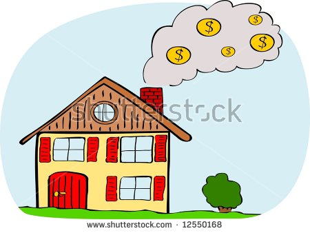 Heating Costs Euro Vector Stock Vector 8404348.