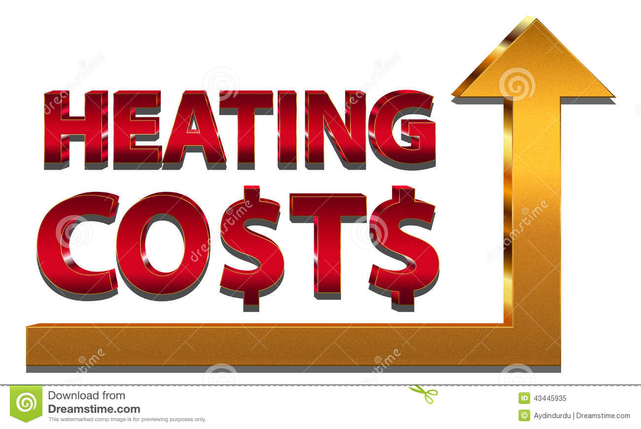 Rising Heating Costs Stock Vector.