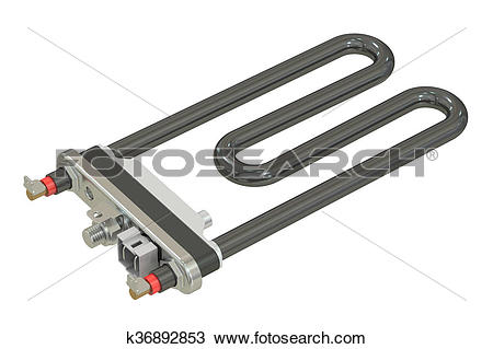 Drawing of electric heating element, 3D rendering k36892853.