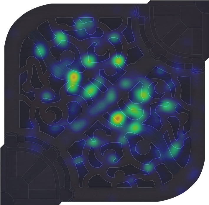 Heatmap Team Koo Blue.