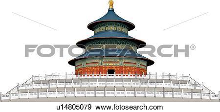 Stock Illustration of Temple of Heave, China u14805079.