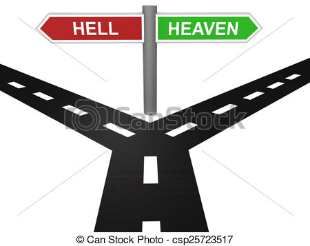 Road to heaven or hell clipart.