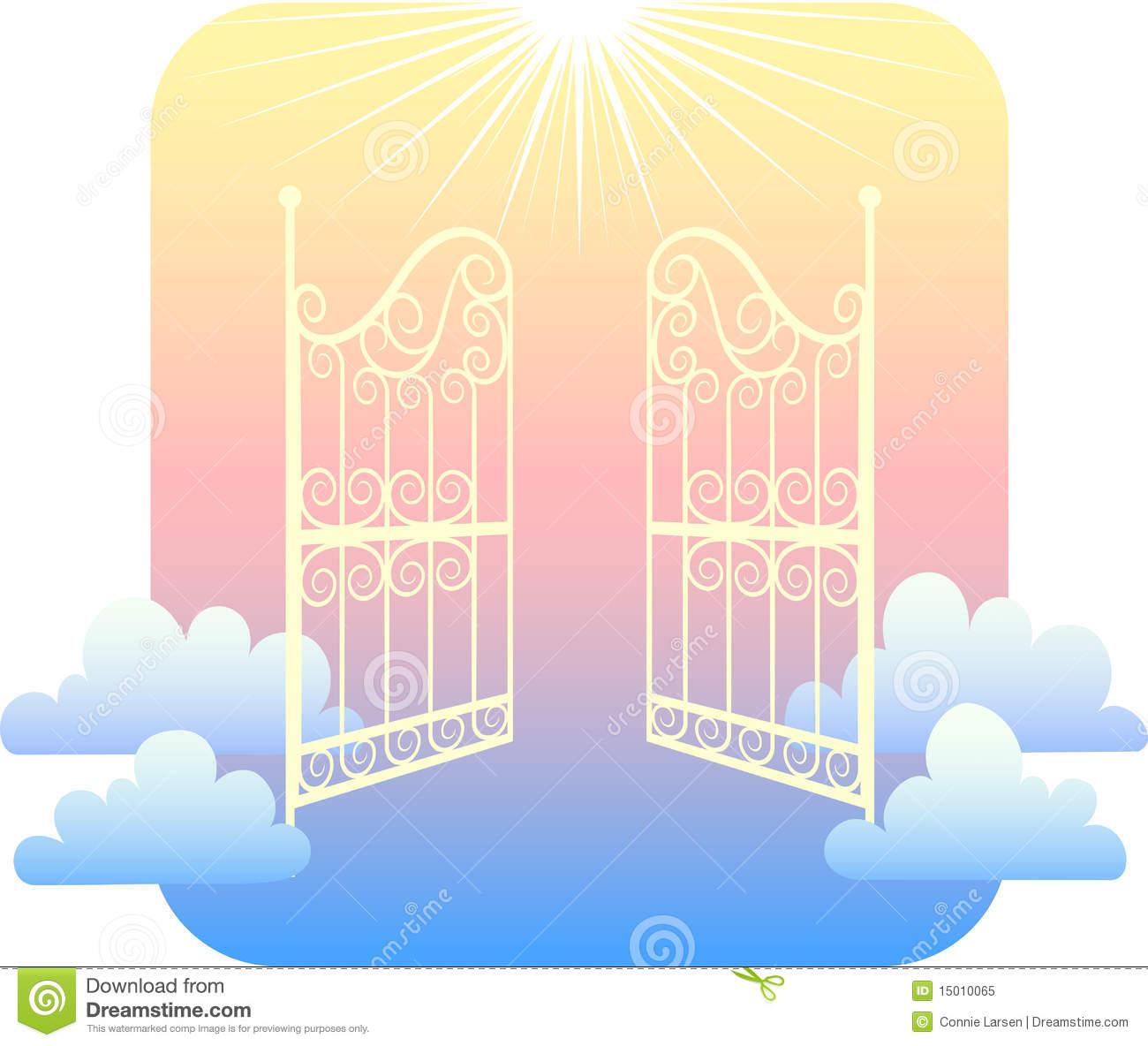 Gates Of Heaven Clipart.