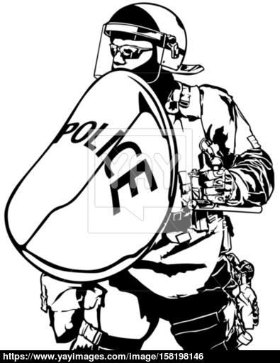 Police Heavy Armor vector.