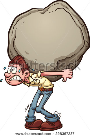 Clipart Carrying Heavy Load.