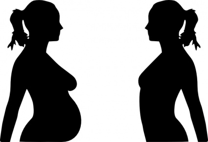 Pregnancy Silhouet clip art vector, free vector graphics.
