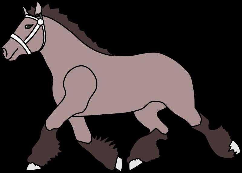 Shire horse clipart.