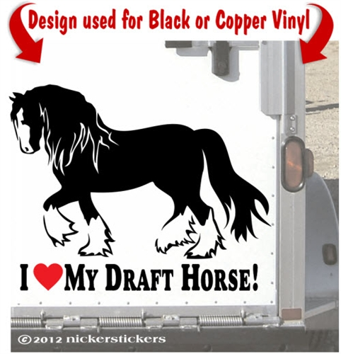 Shire horse clipart.