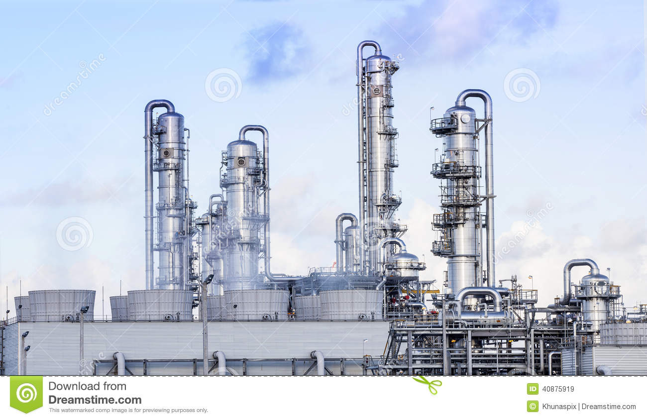 Big Tube In Refinery Petrochemical Plant In Heavy Industry Estat.