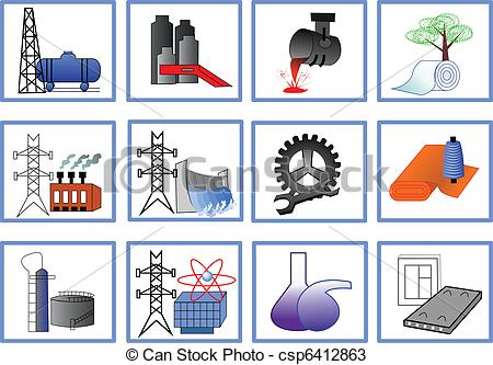 EPS Vector of Plants for light and heavy industry.