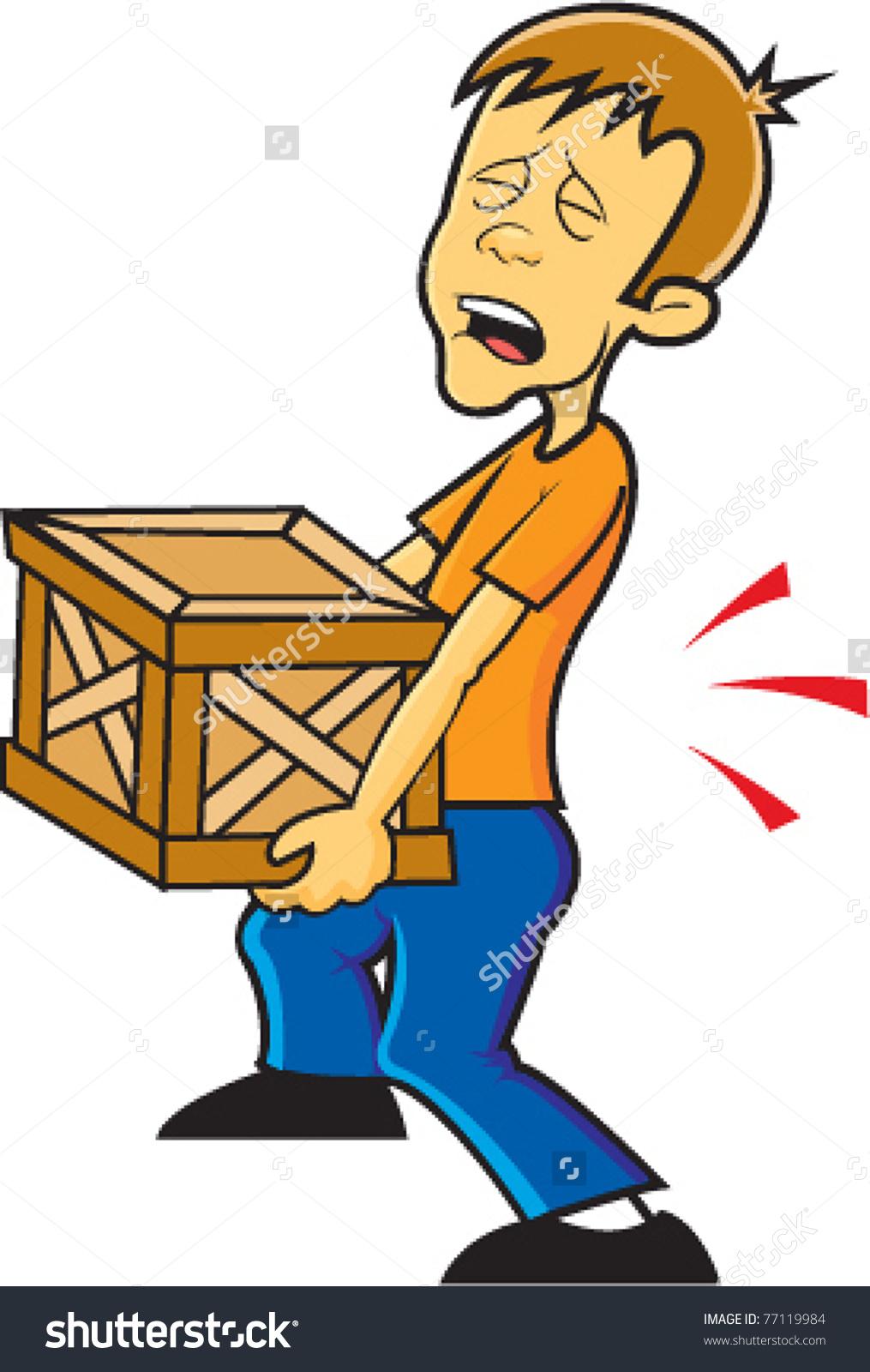 Heavy box clipart.