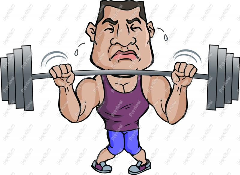 Heavy lifting clipart.