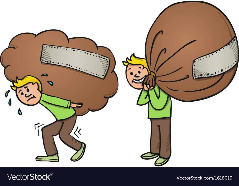 Heavy Bag Cartoon vector image.
