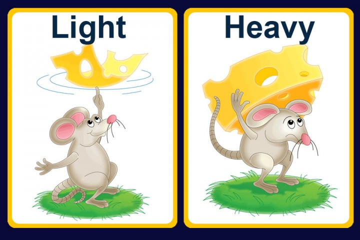 Heavy Vs Light Clipart.
