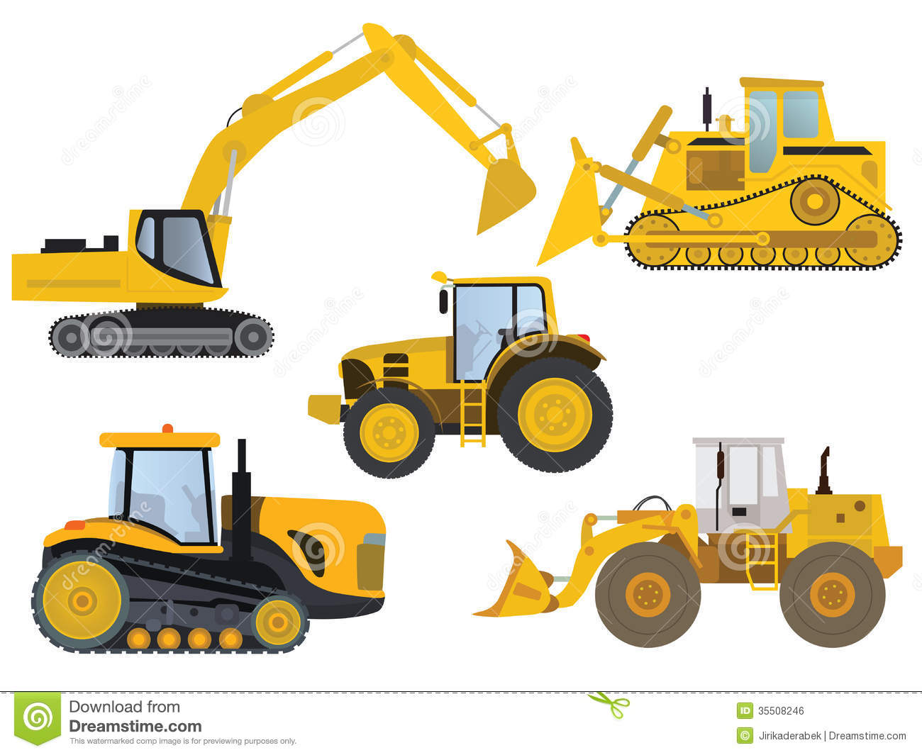Heavy Machinery Royalty Free Stock Image.